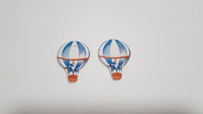 Διακοσμητικό αερόστατο (δυνατότητα και με τρύπα) για μπομπονιέρα.