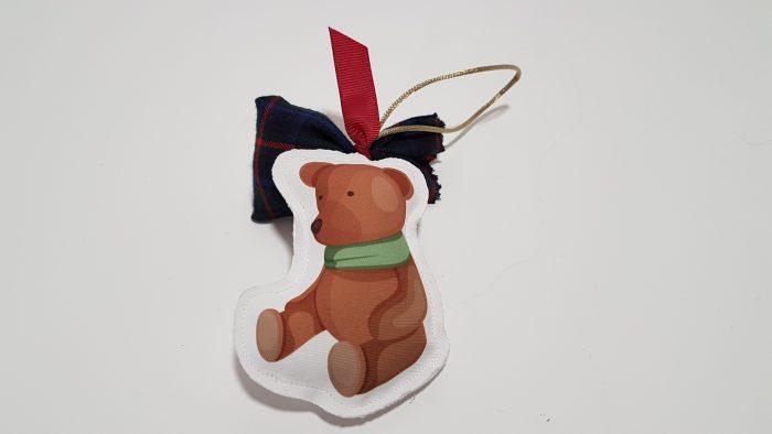Μπομπονιέρα φουσκωτό στολίδι αρκουδάκι.