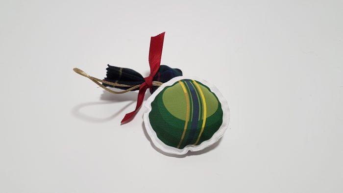 Μπομπονιέρα φουσκωτό στολίδι μπάλα.