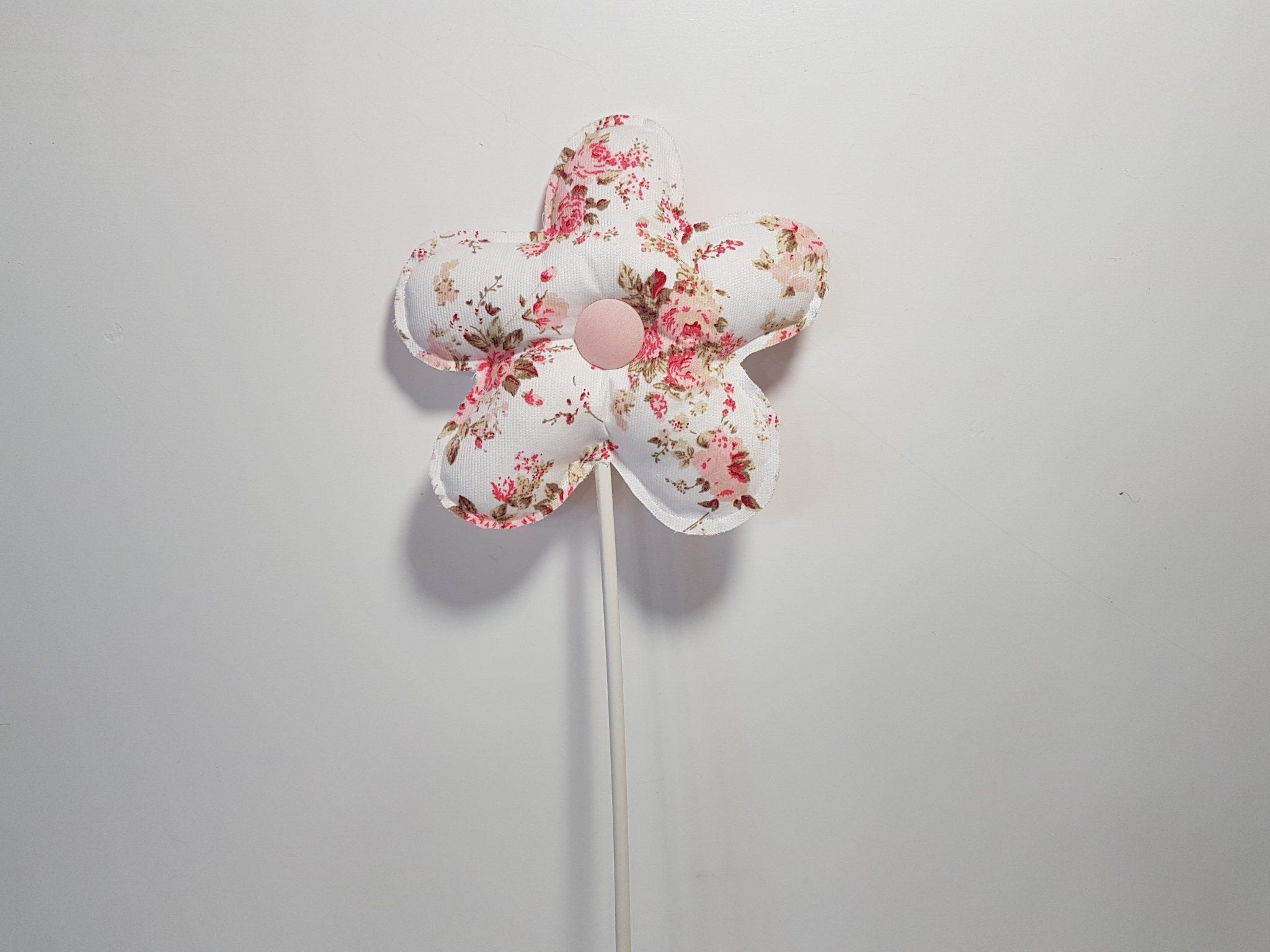 Στικ λουλούδι ,ύφασμα floral για διακόσμηση.