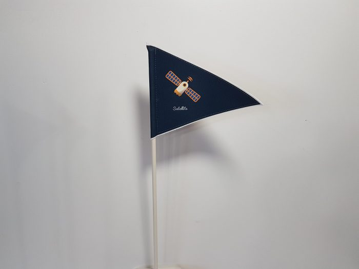 Σημαιάκι space σε στικ ,με εκτύπωση επιλογής σας.